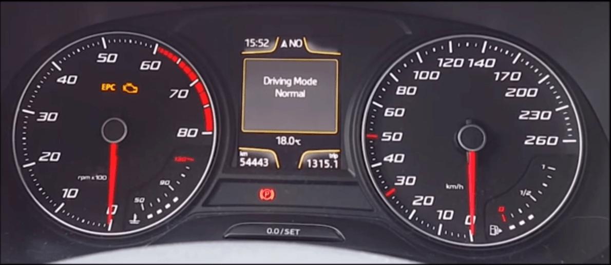 הצגה מצבי נהיגה בלוח שעונים