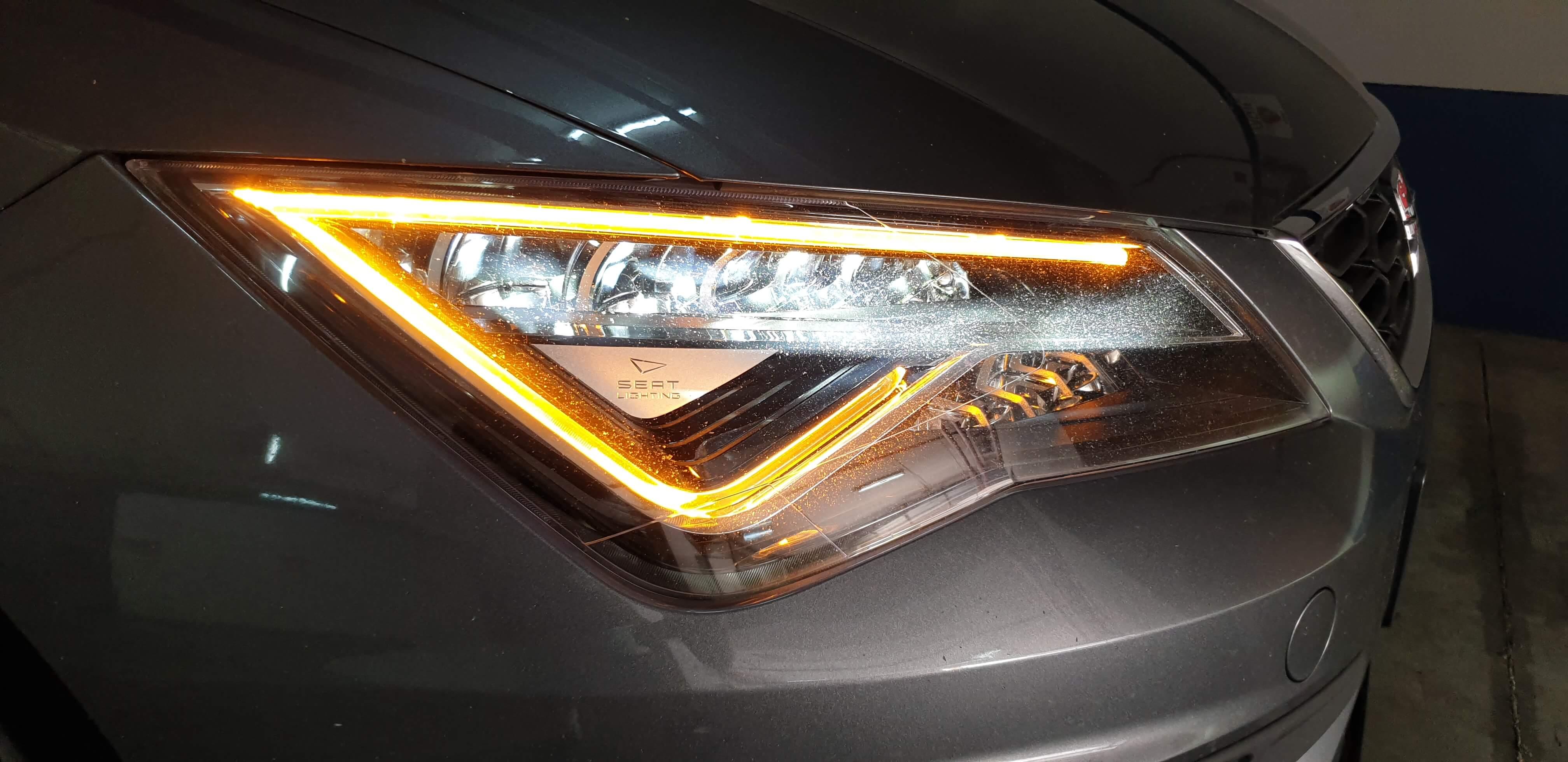 הוספת איתות קידמי מתחלף של אור חניה ואיתות או אורות ערפל